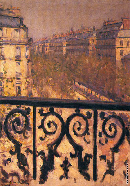 A Balcony in Paris (Caillebotte)