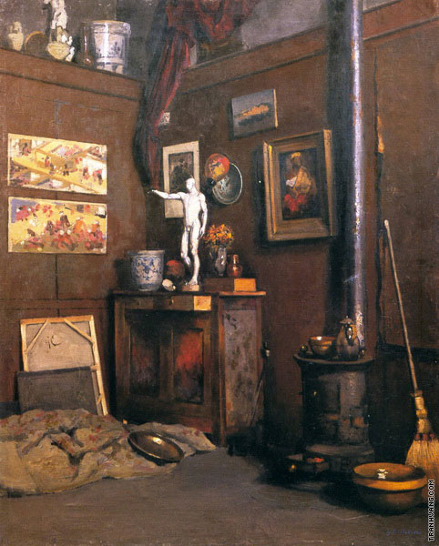 Interior of a Studio (Caillebotte)