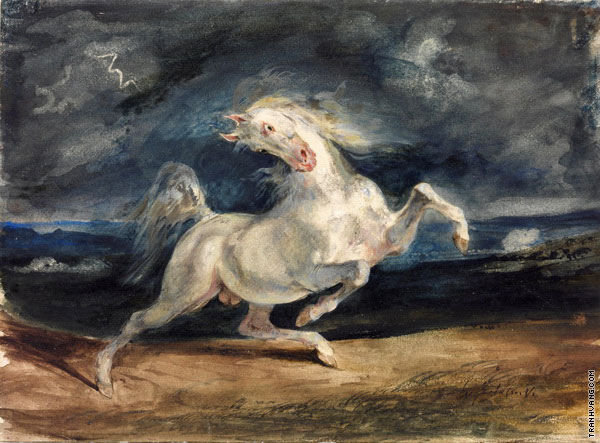 Horse Frightened by a Storm (Delacroix)