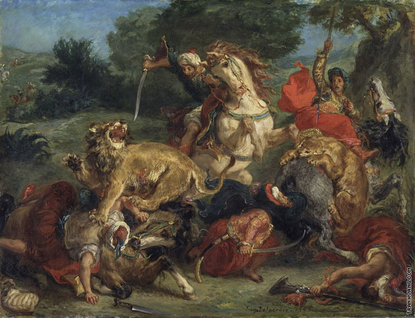 Lion Hunt (Delacroix)