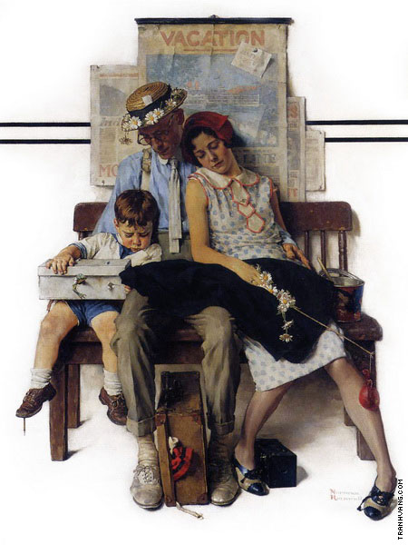 Family Home from Vacation (Rockwell)
