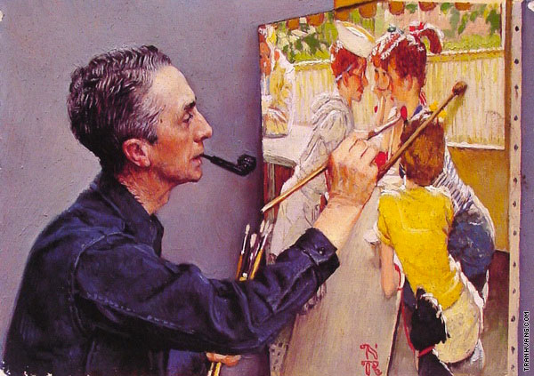 Self-Portrait - Soda Jerk (Rockwell)