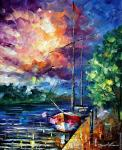 By the dock (Afremov)