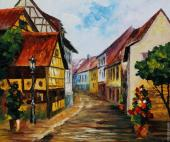 Town in Germany (Afremov)