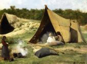 Indian Camp (Bierstadt)