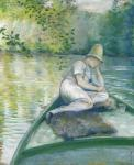 Boater on the Yerres (Caillebotte)