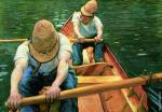 Rowing paddlers on the Yerres (Caillebotte)