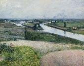 The Seine at the tip of Epinal (Caillebotte)