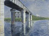 The Seine and The Railroad Bridge at Argenteuil (Caillebotte)