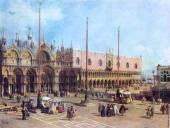 The Piazza San Marco - Looking Southeast (Canaletto)
