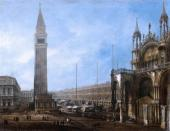 The Piazza San Marco with the Clock Tower (Canaletto)