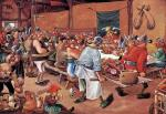 The meal of the Gauls (after Bruegel)