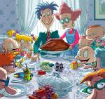 The Rugrats Freedom from Want (after Rockwell)