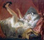 Young woman playing with a dog (Fragonard)