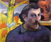 Self-portrait with yellow Christ (Gauguin)