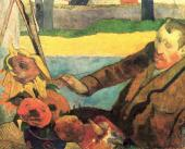 Vincent Van Gogh painting the sunflowers (Gauguin)
