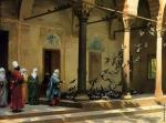 Harem Women Feeding Pigeons in a Courtyard (Gerome)