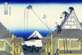 A Sketch of the Mitsui Shop in Suruga in Edo - 36 Views of Mount Fuji (Hokusai)