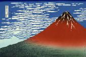 Red Fuji - 36 Views of Mount Fuji (Hokusai) (Hokusai)