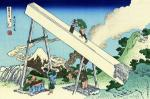 In the Mountains of Totomi - 36 Views of Mount Fuji (Hokusai)