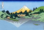 Lake Kawaguchi - Seen from the Misaka Pass in Kai Province - 36 Views of Mount Fuji (Hokusai)