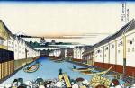 Nihonbashi Bridge in Edo - 36 Views of Mount Fuji (Hokusai)