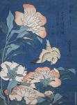 Peonies and Canary (Hokusai)