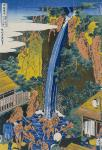 Roben Waterfall at Ohyama (Hokusai)