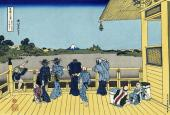 SazaiHall - Temple of Five Hundred Rakan - 36 Views of Mount Fuji (Hokusai)