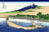 Sea Coast at Tago near Ejiri - 36 Views of Mount Fuji (Hokusai)