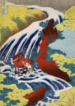 The Waterfall Where Yoshitsune Washed his Horse at Yoshino in Yamato Province (Hokusai)