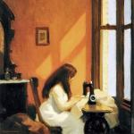Girl at Sewing Machine (Hopper)