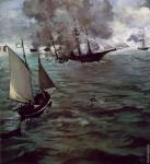 Battle of the Kearsarge and the Alabama (Manet)