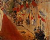 The Rue Mosnier decorated with flags (Manet)