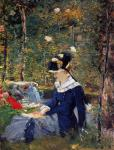 Young woman in the garden (Manet)