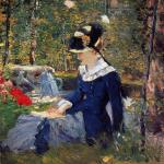 Young woman in the garden* (Manet)