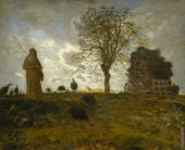 Autumn Landscape with a Flock of Turkeys (Millet)