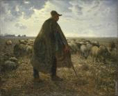 Shepherd Tending his Flock (Millet)