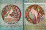 Diptych Ivy and Laurel (Mucha)