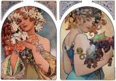 Diptych Decorative Panel (Mucha)