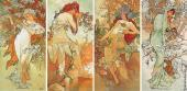 Quadriptych The Four Seasons (Mucha)