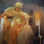 Woman with a Burning Candle (Mucha)