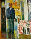 Self-Portrait between the Clock and the Bed (Munch)