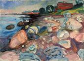Shore with Red House (Munch)