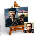 Hand-painted photo portrait into GANGSTER