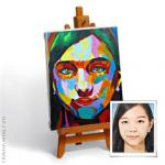 Portrait with Palette KNIFE in style of Nielly - 1 person