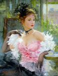 Young Lady on the Cafe Terrace (Razumov)