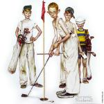 Missed - Four Sporting Boys - Golf (Rockwell)
