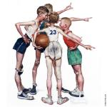 Oh Yeah - Four Sporting Boys - Basketball (Rockwell)