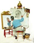 Triple Self-Portrait (Rockwell)